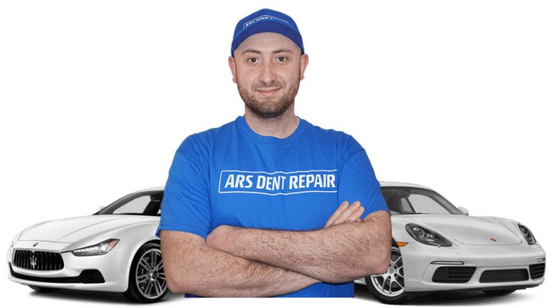 In this photo Arslan Gadz is the owner and the technician of Ars Dent Repair. He is very passionate about Paintless dent repair and takes a tremendous pride in his craft.
