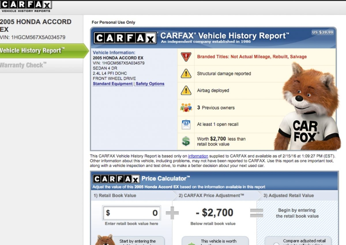 What Is A Carfax Vehicle History Report And How It Affects Vehicle Value